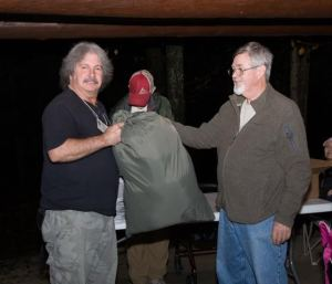Don Hamilton winning his Enigma Quilt by Enlightened Equipment